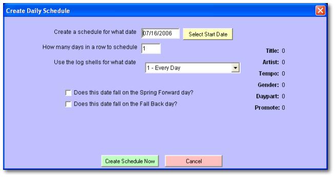 module create daily schedule